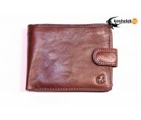 Мужской кошелек в три сложения